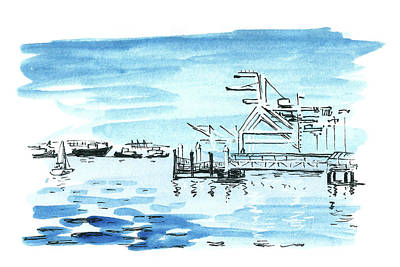 Painting - Port by Masha Batkova