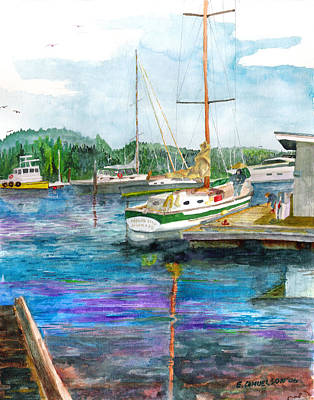 Painting - Port Mcneil Bc by Eric Samuelson