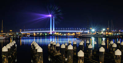 Photograph - Port Melbourne At Night by Georgiana Romanovna