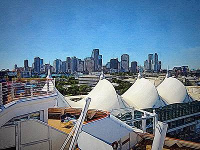 Photograph - Port Miami by Anne Sands