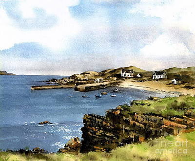 Painting - Port Na Blagh Donegal by Val Byrne