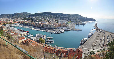 Photograph - Port Nice Panorama by Yhun Suarez