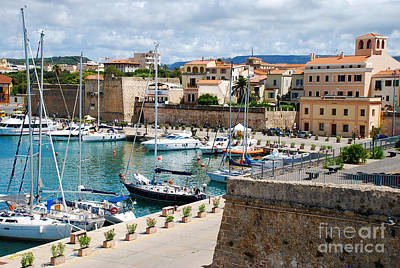 Italy Photograph - Port Of Alghero Italy - Island Of Sardinia by Just Eclectic