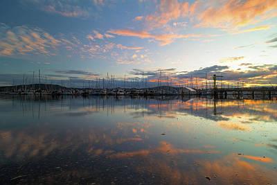 Photograph - Port Of Anacortes Marina At Sunset by David Gn