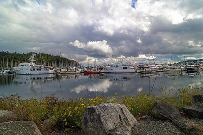 Photograph - Port Of Anacortes Marina On A Cloudy Day by David Gn