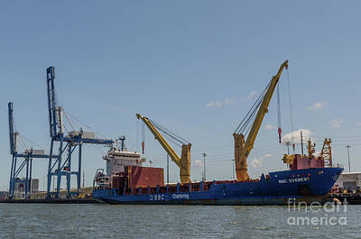 Photograph - Port Of Charleston South Carolina by Dale Powell