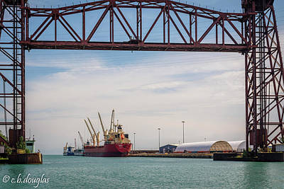 Benchmark Photograph - Port Of Chicago At Iroquois Landing by Christine Douglas