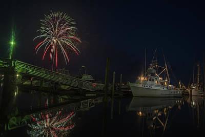 Photograph - Port Of Ilwaco Fireworks by Robert Potts