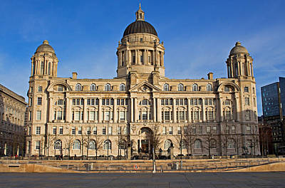 Scouse Photograph - Port Of Liverpool Building On Liverpool Waterfront by Ken Biggs