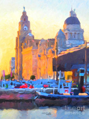 Painting - Port Of Liverpool, England by Chris Armytage