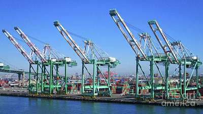 Photograph - Port Of Los Angeles 1 by Randall Weidner