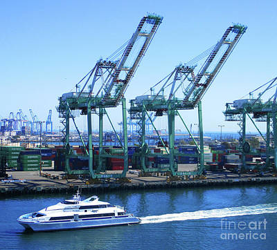 Photograph - Port Of Los Angeles 2 by Randall Weidner