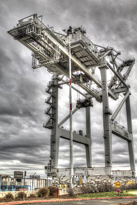 Photograph - Port Of Oakland Crane by SC Heffner
