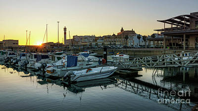Photograph - Port Of Rota At Sunset Cadiz Spain by Pablo Avanzini