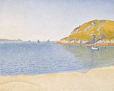 Pointillist Painting - Port Of Saint-cast by Paul Signac