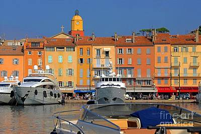 Port Of Saint-tropez In France Art Print