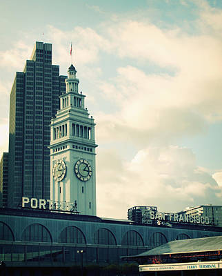 Clock Photograph - Port Of San Francisco by Linda Woods