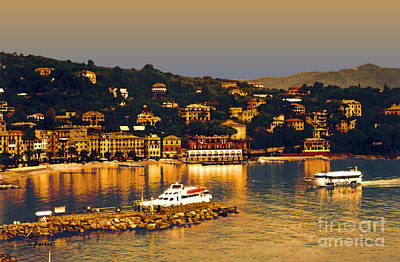 Tuscan Digital Art - Port Of Santa Margherita 1 by Linda  Parker