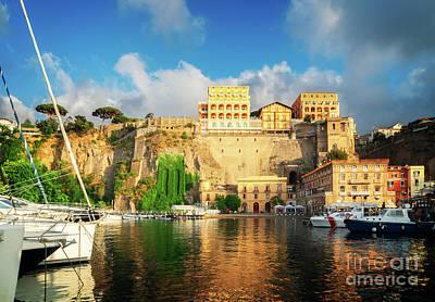 Photograph - Port Of Sorrento, Southern Italy by Anastasy Yarmolovich