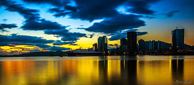 Port Of Spain Reflections  Art Print by Marcus Gonzales