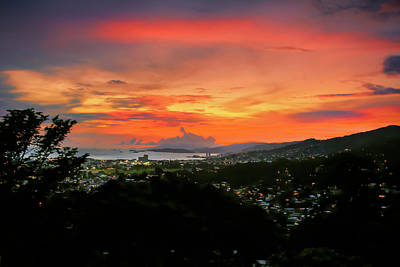 Photograph - Port Of Spain Sunset by Nadia Sanowar