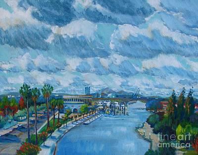 Port Of Stockton Original by Vanessa Hadady BFA MA
