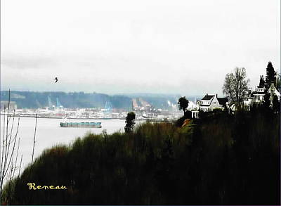 Photograph - Port Of Tacoma At Ruston Wa by Sadie Reneau