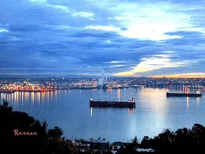 Photograph - Port Of Tacoma W A At Sunset by Sadie Reneau