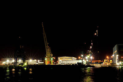 Photograph - Port Of Tampa At Night by Carolyn Marshall