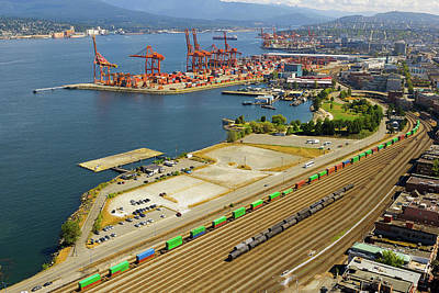 Photograph - Port Of Vancouver Bc by David Gn
