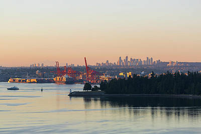 Photograph - Port Of Vancouver By Stanley Park by David Gn