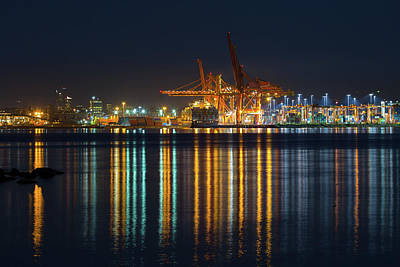 Photograph - Port Of Vancouver In British Columbia Canada by David Gn