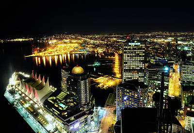 Vancouver At Night Photograph - Port Of Vancouver Waterfront Mdccxix  by Amyn Nasser