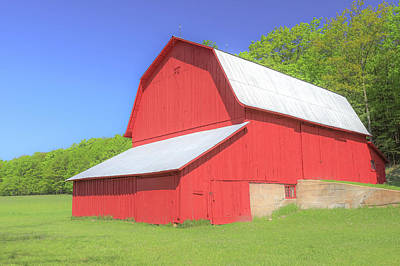 Photograph - Port Oneida Historic Red Barn by Dan Sproul