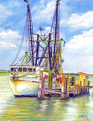 Classic Marine Art Painting - Port Orange Shrimper by Joe DeKleva
