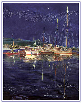 Painting -  Marina Evening Reflections by Jack Pumphrey