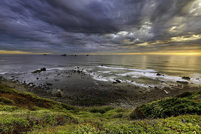 Photograph - Port Orford Cove Sunset by PhotoWorks By Don Hoekwater