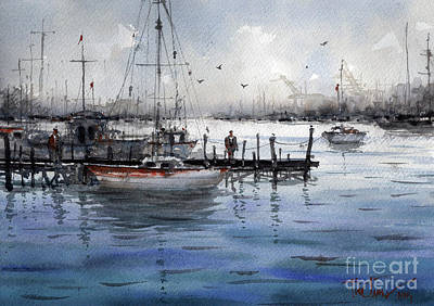 Painting - Port Philip Bay by Tim Oliver