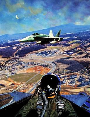 Emu Digital Art - Port Republic Airstrike by James Jarrels