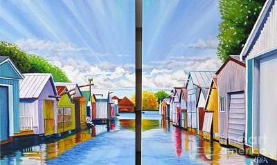 Painting - Port Rowen Boat Houses by Elissa Anthony