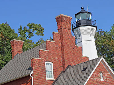 Photograph - Port Sanilac Light Station by Ann Horn