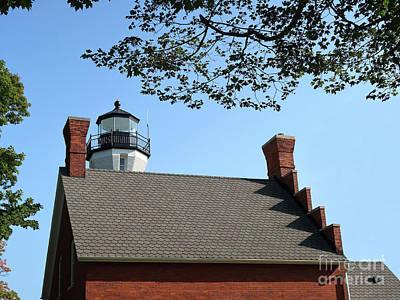 Michigan Port Sanilac Photograph - Port Sanilac Lighthouse by Ann Horn