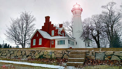 Photograph - Port Sanilac Lighthouse by Michael Rucker