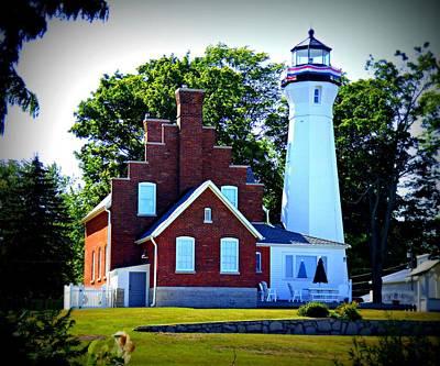 Michigan Port Sanilac Photograph - Port Sanilac Lighthouse by Scott Ward