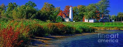 Michigan Port Sanilac Photograph - Port Sanilac Lighthouse,mi by Vito Palmisano