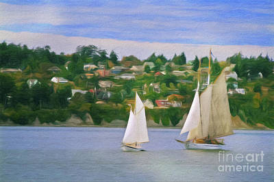 Digital Art - Port Townsend Sailing by Patrick M Lynch