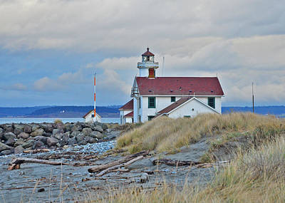 Photograph - Port Townsend Lighthouse by Jack Moskovita