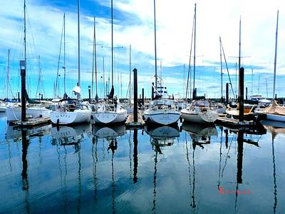 Photograph - Port Townsend Washington Marina 1 by Sadie Reneau