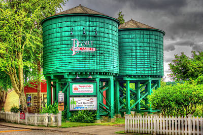 Photograph - Port Townsend Water Tanks by Richard J Cassato