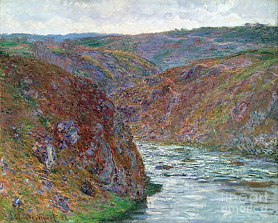 Port-valley Of The Creuse Art Print by Claude Monet